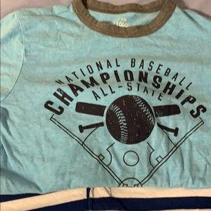2 like new boys shirts, 7/8